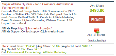 clickbank affiliate offer