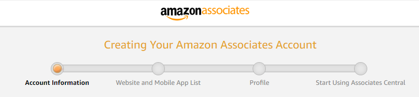 amazon associates account creation