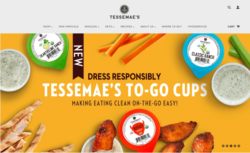 Tessemae shopify ideas