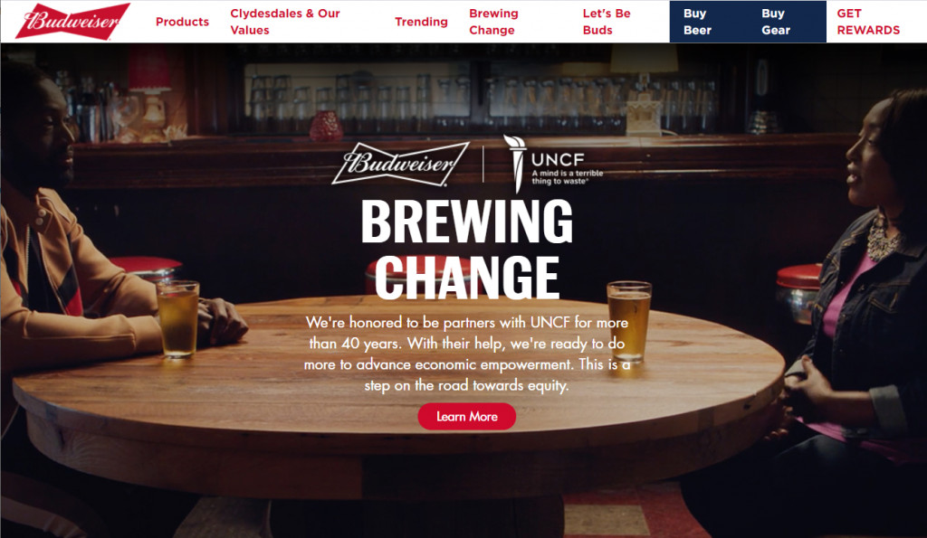 budweiser shopify store inspiration