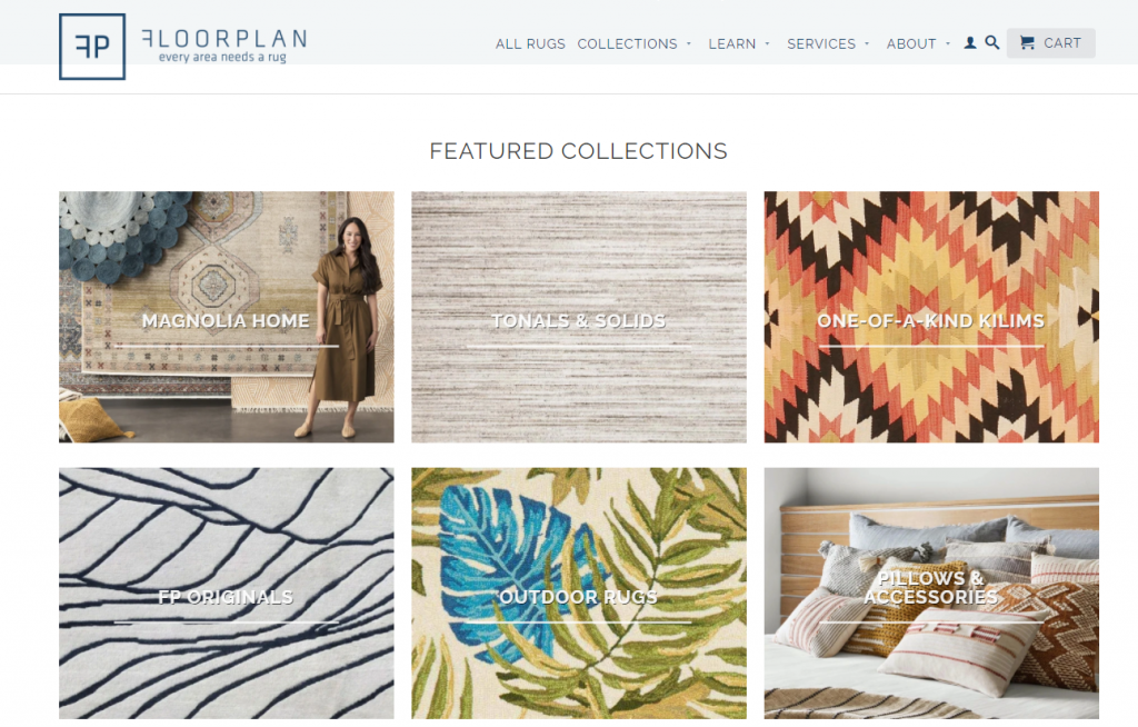 floorplan rugs ecommerce store inspiration