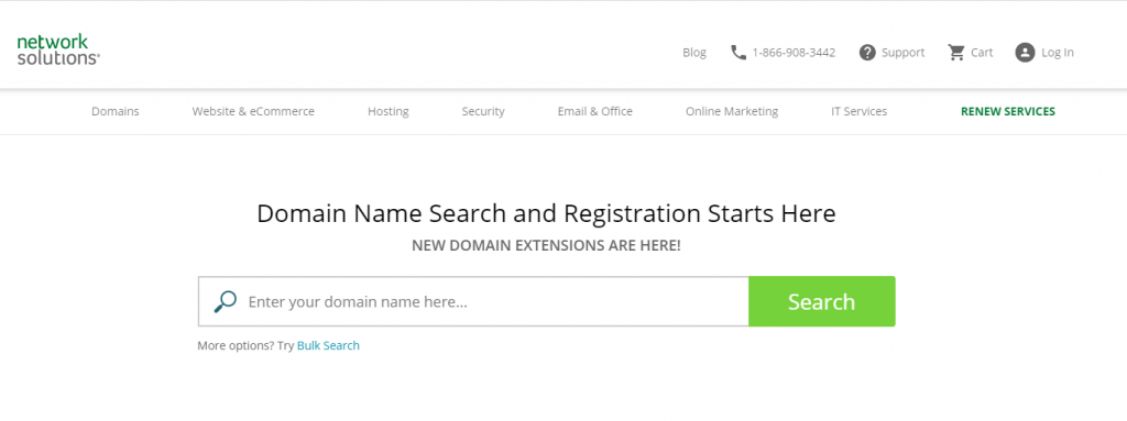 network solutions domain registrar