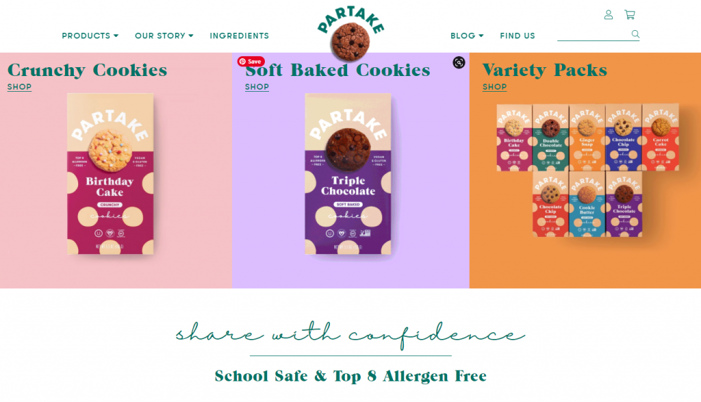 partake cookies shopify store