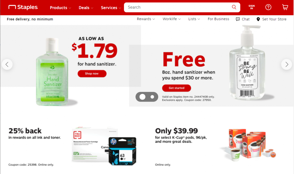staples shopify ideas