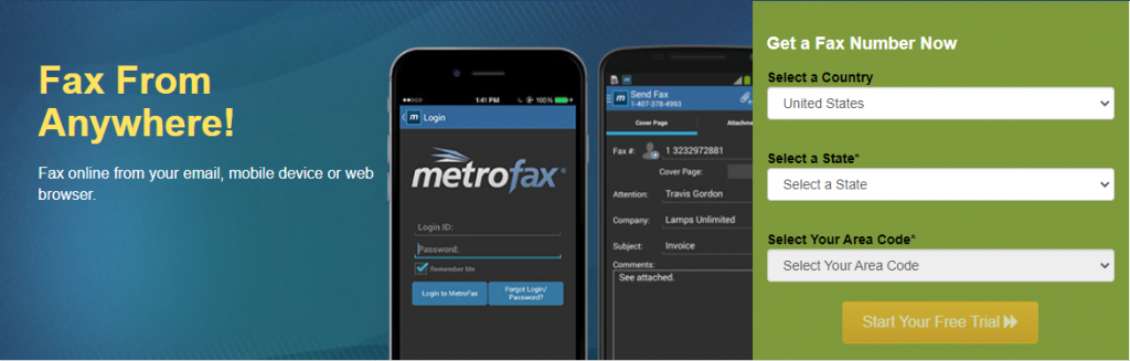 metro fax online faxing service